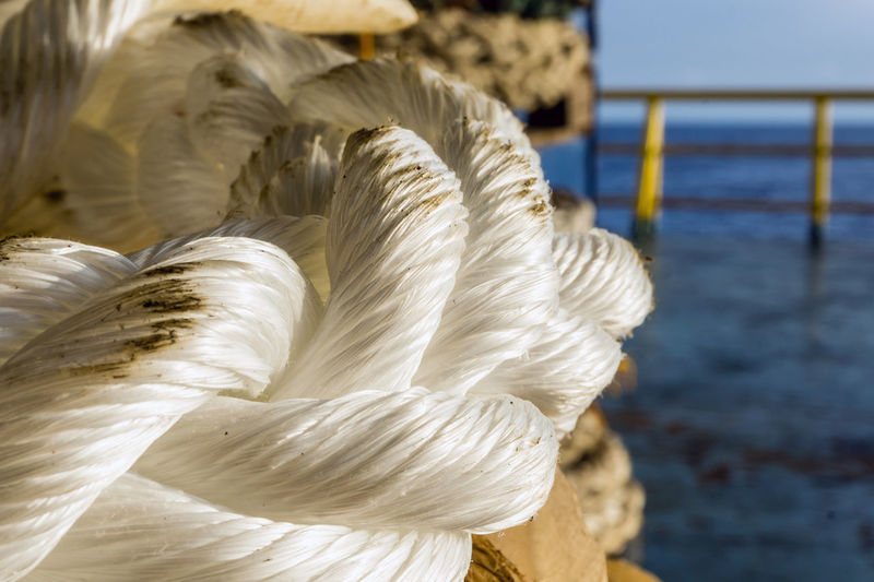 mooring rope Mooring Rope White Hawser Maritime Nautical Nylon Offshore Offshore Life Construction Barge Weaving Thread Spool