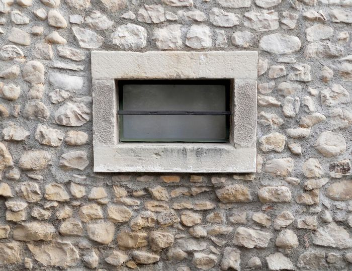 Stone Wall Window ArchiTexture Architectural Detail Background Textures And Surfaces Mortar Rectangular Stone Frame Light Yellow