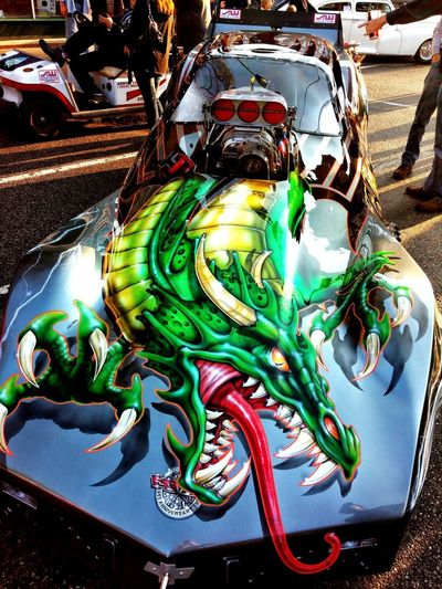 Dragster High Angle View Close-up Chinese Dragon