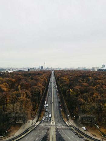 View from top of the Berlin Victory Column Tourism Travel Victorycolumn Scenic Cityview Berlin Transportation Road Highway The Way Forward Outdoors Street