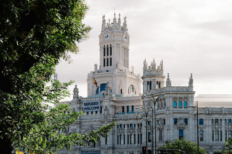Madrid City Hall Architecture Building Exterior Cibeles City Hall Cityscape Cityscapes Day Eu Europe Europe Trip No People Outdoors Sky Skyline SPAIN Town Hall Travel Destinations Tree