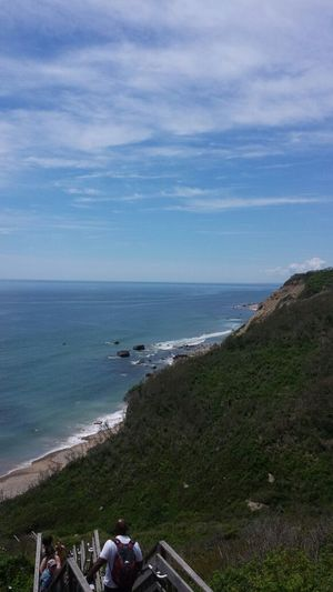 Mohegan Bluffs Enjoying Life Block Island Ocean View Atlantic Ocean Girlsweekend Streamzoo Streamzoofamily Summer ☀ Beach Life Bluffs See For Miles