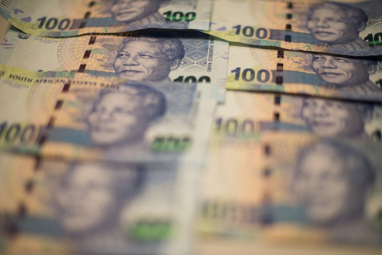 ZAR Rands South African Rand Zaragoza Backgrounds Close-up Currency Day Finance Indoors  No People Paper Currency Savings Selective Focus Wealth