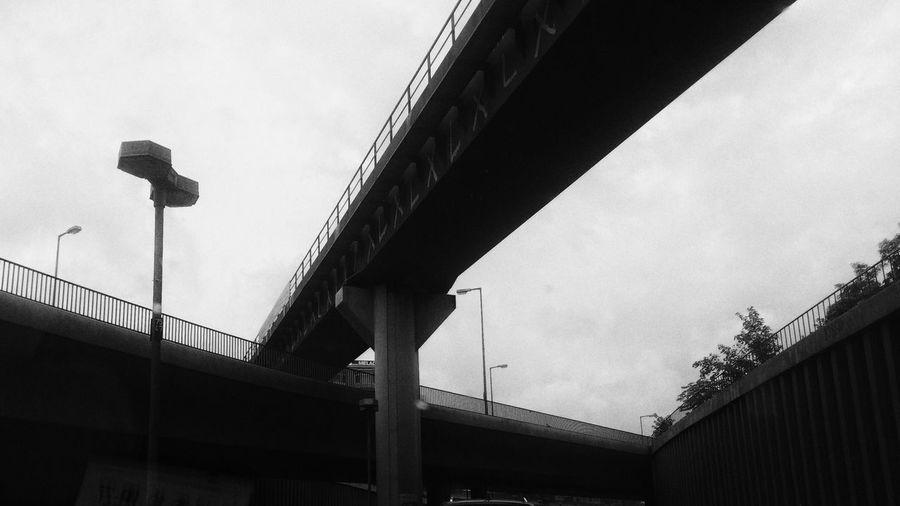 Junction, Berlin, what I see while traffic jam Berlin Junction Highway Blackandwhite Black And White Black & White Snapseed Black And White Friday