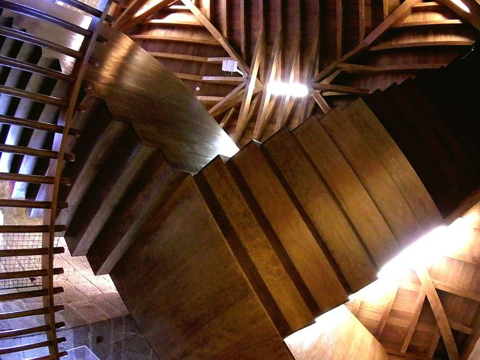 Architecture Staircase Geometric Design Geometric Structures Mcescher Abstract Wodden Wodden Texture Ceiling Ceiling Design