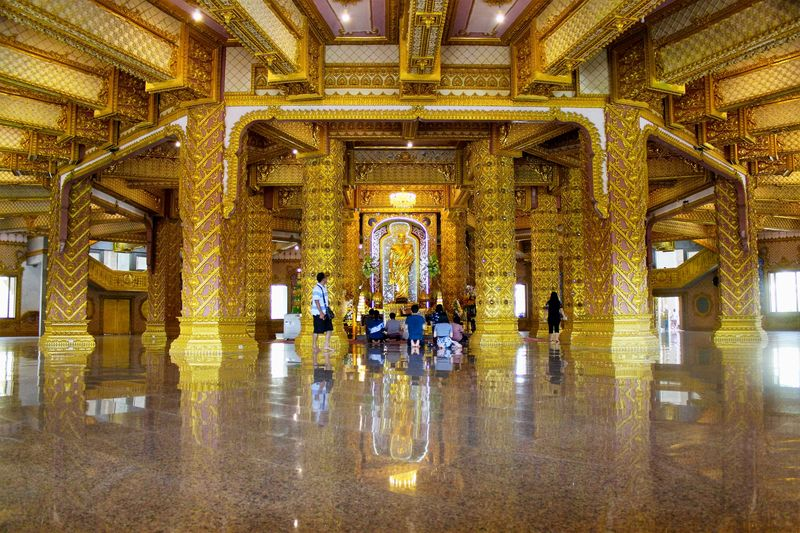 Golden temple Buddhism Buddha Temple Temple - Building Golden Temple Golden House Gold Indoors  Building Reflection Belief Gold Colored Religion