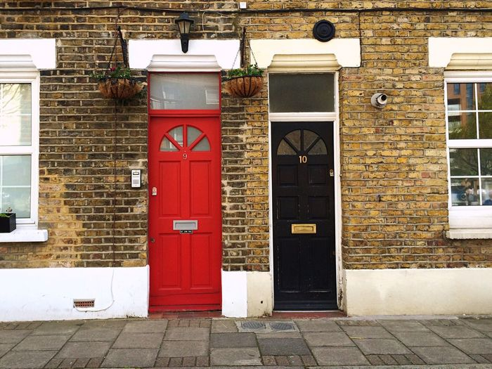 London Street Houses Colors Hello World Travel