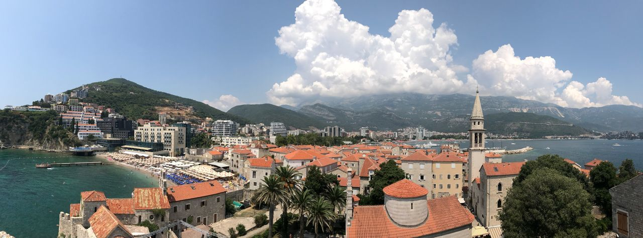 Original picture Old Town Beach Adria Budva,Montenegro Montenegro Panorama Budva Panorama Panoramic Photography Panorama View Panorama Adriatic Sea Adria European Beach Holiday Montenegro Sky Architecture Mountain Built Structure Water Nature Building Exterior