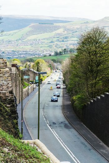 Sky Outdoors Day Road High Angle View Driving Frog In The Wall Mottram Moor Roe Cross Longdendale Mottram Architecture Car Road