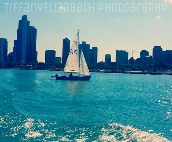 Sailing Chicago Architecture Lake Michigan Skyline Sky Jesuschrist Willistower Blue Sky Blue