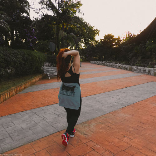 Only Women One Person Nikon Full Length Rear View Outdoors Redhead Red Hair Real People Adult Day Tree Sport Women Lifestyles People Court Brasil Water Brazil Brazilian São Paulo, Brasil EyeEm Nature Lover Nature EyeEmNewHere