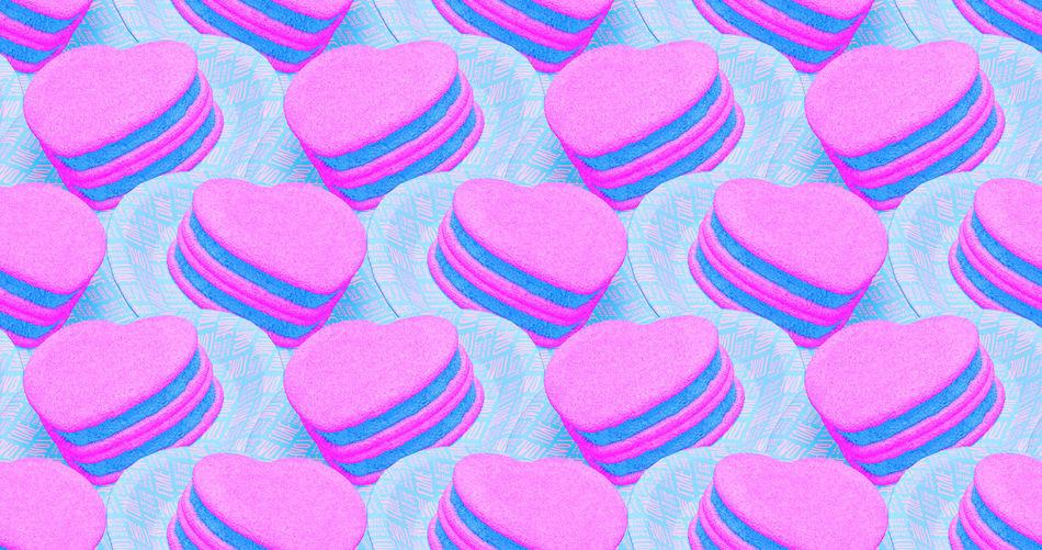 Full frame shot of pink cake
