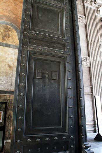 Architecture Pantheon Anchient Door Doorway Metal Old Rivets