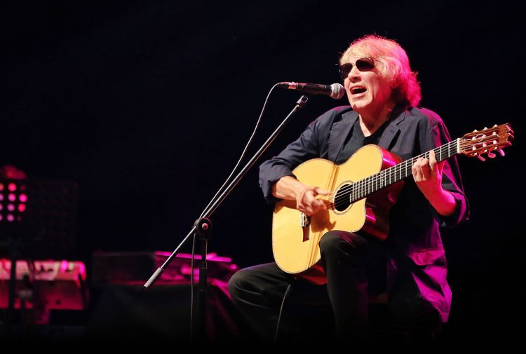 Jose Feliciano Music Arts Culture And Entertainment Musical Instrument Performance Guitar Musical Equipment Musician String Instrument Microphone Guitarist Input Device Artist Men One Person Singing Electric Guitar Singer  Rock Music Enjoyment Stage - Performance Space