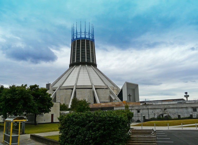 The 'crown' dome of Liverpool Cathedral Tree Sky Outdoors No People Liverpool Cathedral Day Cloud - Sky City Built Structure Building Exterior Architecture Liverpool England Beatles A Taste Of Liverpool