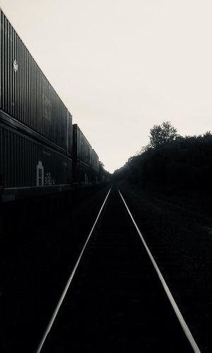 EyeEmNewHere EyeEmNewHere Diminishing Perspective The Way Forward Transportation No People Outdoors Railroad Track Straight