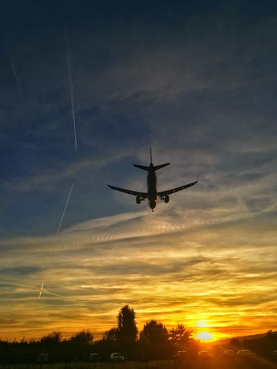 Flying Air Vehicle Sunset Airplane Transportation Aerospace Industry Speed Technology Travel Military Helicopter Sky Airshow Mode Of Transport Vapor Trail No People Commercial Airplane Army Outdoors Fighter Plane EyeEmNewHere Second Acts Perspectives On Nature Rethink Things