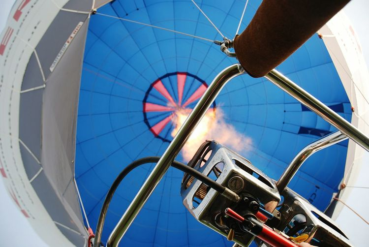 Close-Up Low Angle View Of Hot Air Balloon