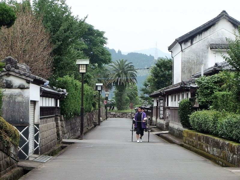 Architecture Building Exterior Day House Lifestyles Obi Japan People Real People Rear View Rickshaw Run Samuai Tow Sky Traditional Street Performance Walking Let's Go. Together.