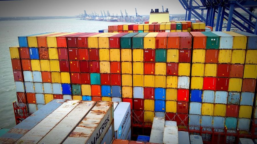 Pattern Pieces Container Ship Container MSC Oliver