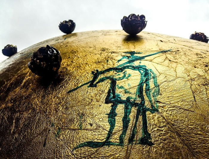 Gold Colored Art Elquijote Beach Shadow Sky Close-up Drawing ArtWork Representation