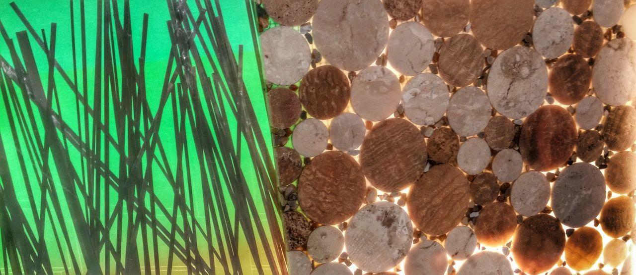 Interesting Design Design And Detail Circles And Lines Design Materials Greenlight Backlight Cork