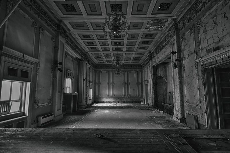 Abandoned Abandoned Buildings Architecture Built Structure Day Derelict Derelict Building Derp Indoors  Monochrome No People Urban Decay