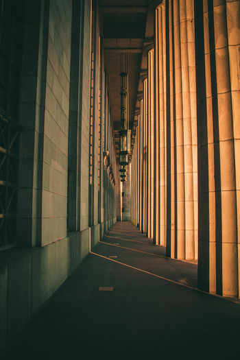 Fugas Architectural Column Architectural Feature Architecture Built Structure Colonnade Column Corridor Diminishing Perspective In A Row Narrow No People Passage Pillar Repetition The Way Forward Vanishing Point