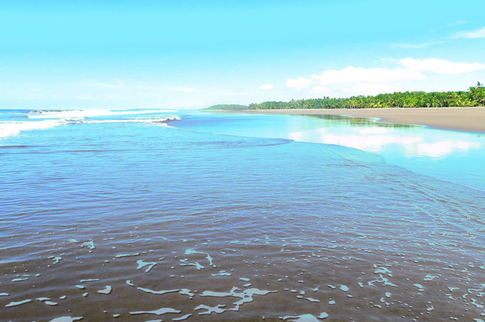 Backgrounds Beach Beachphotography Beauty In Nature Blue Blue Sky Clouds Reflections On Water Costa Rica Day Nature No People Outdoors Pacific Pacific Ocean Reflection Scenics Sea Sky Tranquil Scene Tranquility Water