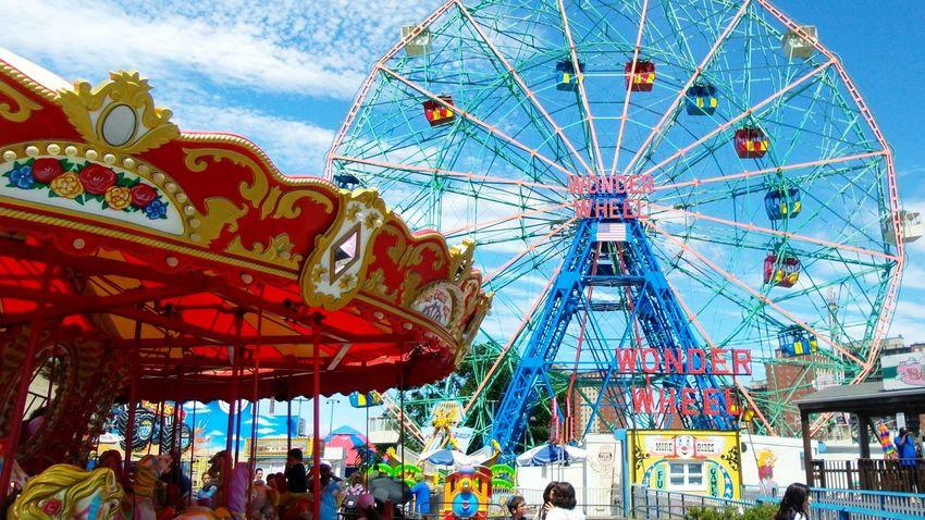Brooklyn Boardwalk: paikura© NYC Colour Of Life EyeEm Best Shots Eye4photography  New York AMPt_community Parks Brooklyn Ferris Wheel Carousel