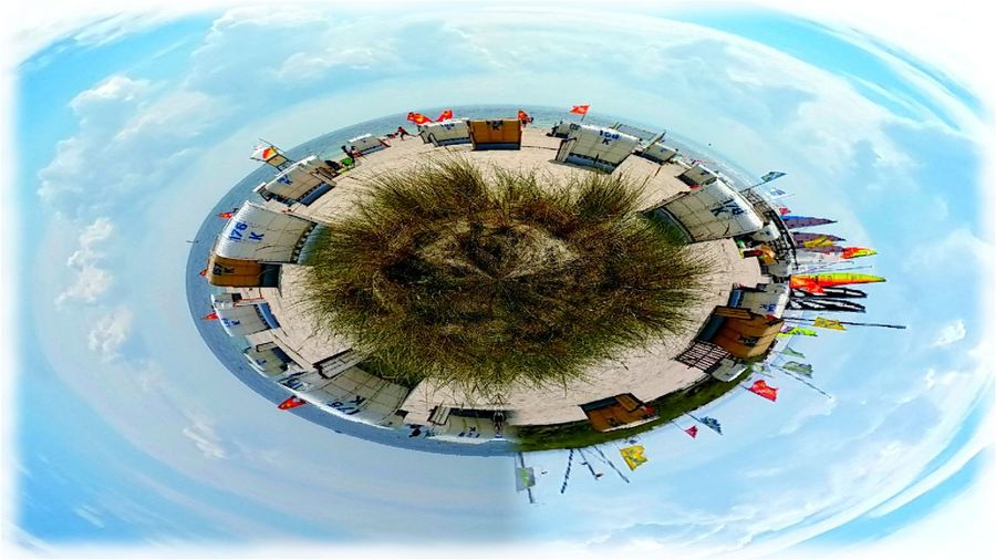 Grömitz Strand tiny planet