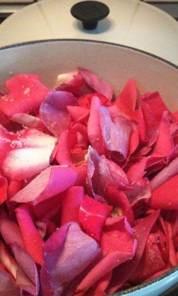 Cooking Rose Petals Rose Jam Making Slow Life