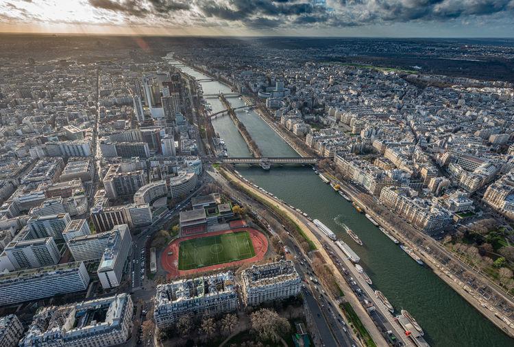 Paris birds view