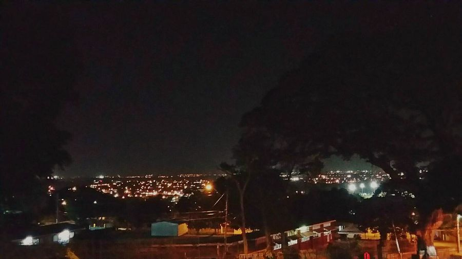 Night View Mountain View City Lights From Where I Stand- Trinidad and Tobago