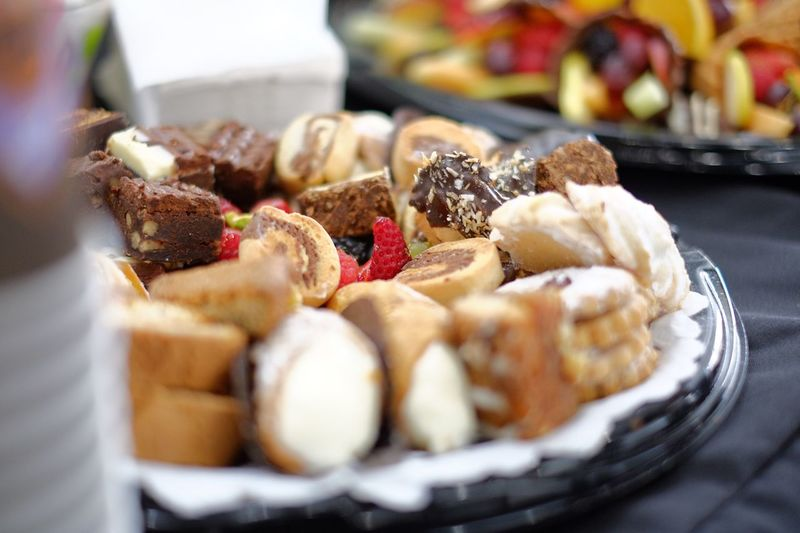 Close-up of pastries in plate