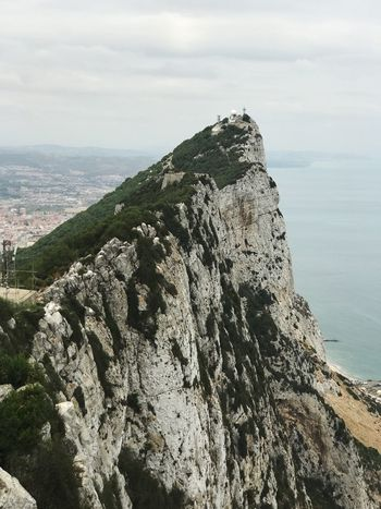 Gibraltar Let's Go. Together. Sea Nature Cliff Rock - Object Rock Formation Beauty In Nature Scenics Tranquility Sky Water Outdoors Day No People Mountain Horizon Over Water Gibraltar Rock