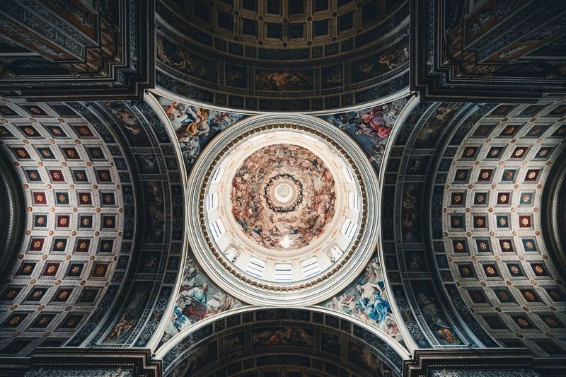 Mantova Dome Pattern Belief Design Religion Architecture Spirituality Ceiling Low Angle View Geometric Shape Full Frame Backgrounds Place Of Worship Built Structure Art And Craft Indoors  Creativity No People Directly Below Building Shape