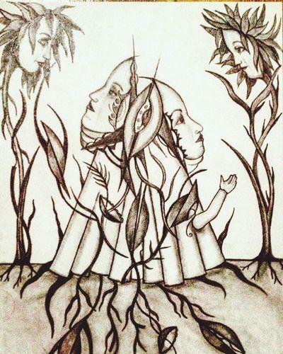 Teckning Konst Art Drawing Gardeners