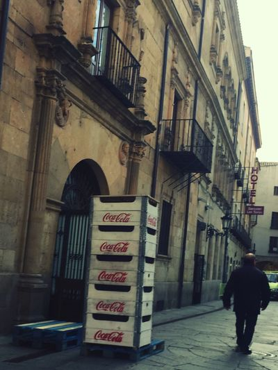 Coca-cola Salamanca Casino Life Chispadelavida Building Exterior One Person Built Structure Architecture Text Real People Outdoors Full Length Men Road Sign Day People One Man Only Adult Adults Only The Street Photographer - 2017 EyeEm Awards