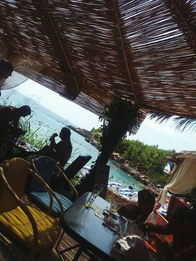 Beach Coctailbar Coctail Hour Sea Sea View Family Cafe Bar Sutomore, Montenegro 💙 Tree Sky