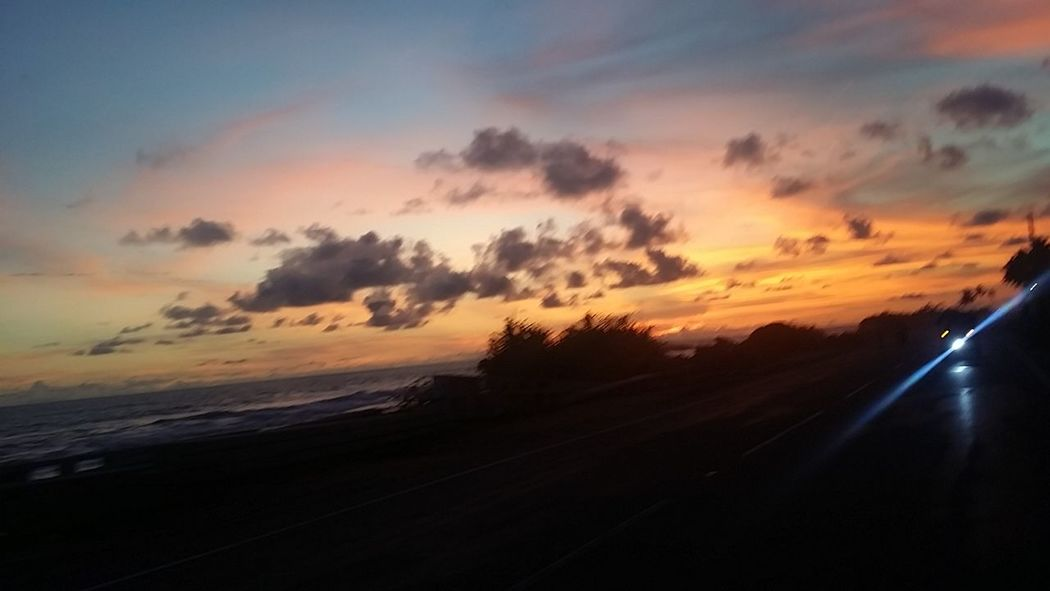 Sunset Galle Galle Road Coconut Trees And Beaches