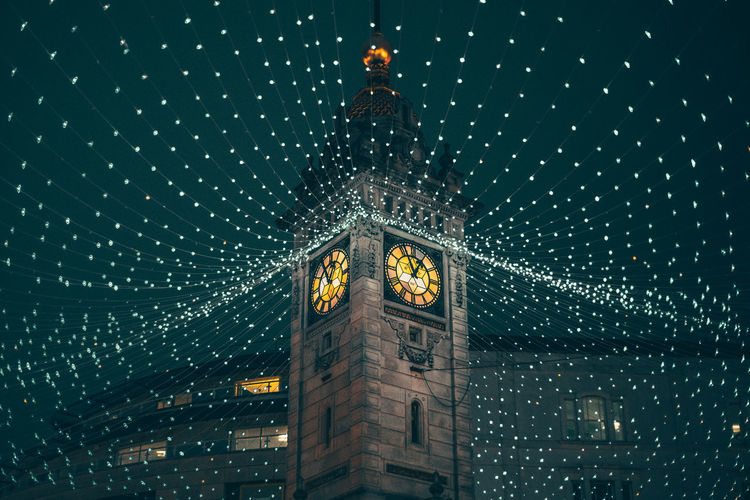 Architecture Built Structure Building Exterior Night Illuminated Tower Low Angle View No People Travel Destinations City Building Tourism Travel Clock Tower Sky Christmas Celebration Lighting Equipment Clock Christmas Decoration Brighton England Streetphotography