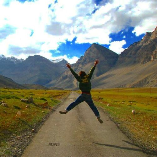 On the way to Losar and Kunzum Pass Chandertaal Lake Coming from Key Monestary and Kibber in 2009 ................ Himalayas Himachal Lahaul Spiti Instahimachal Incrediblehimachal Ankitdogra