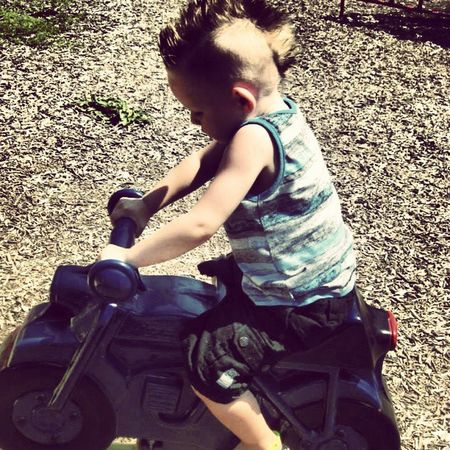 Vroom Motorcycle Mattman Toddlerswag Mohawk babyboy summertime summer2013