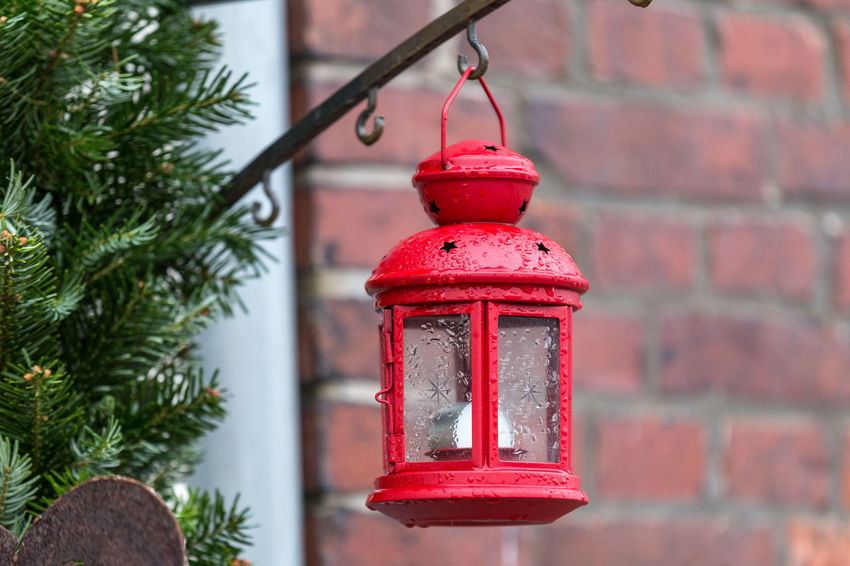 Architecture Bell Building Exterior Built Structure Close-up Day Focus On Foreground Hanging Lantern No People Outdoors Red