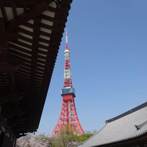 Tokyo Tower Temple Zoujouji City Flag Cultures Sky Architecture EyeEmNewHere