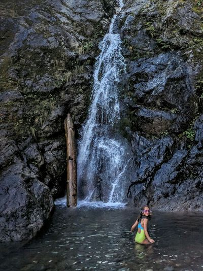 Motion Lifestyles Leisure Activity Casual Clothing Water Flowing Flowing Water Beauty In Nature Nature Scenics Enjoyment Day Mountain Outdoors Waterfall Whitehorse Mountain Boulder River Wilderness Washington State Tranquility Nature Hiking