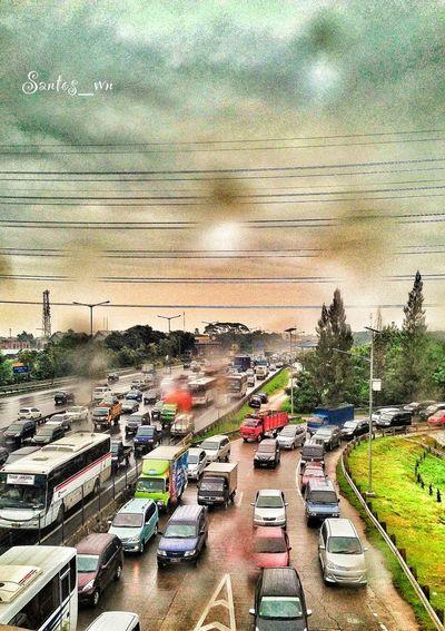 EyeEm Indonesia Hdriphonegraphy Highways&Freeways Rush Hour Traffic With Rain