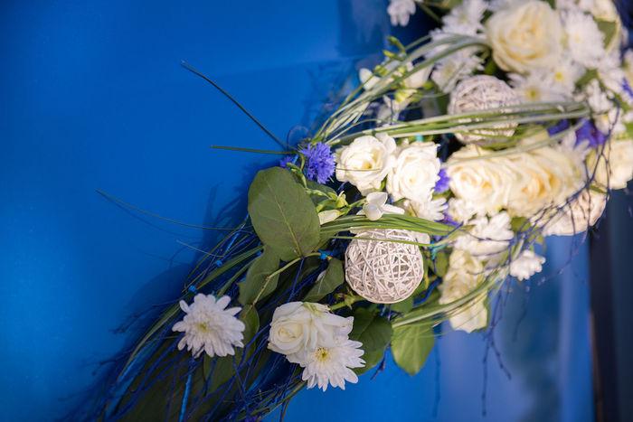 Copy Space Decorated Car Ribbon Wedding Backgrounds Blue Blue Car Bouquet Car Decor Car Decoration Close-up Concept Decorated Flower Flower Head Flowering Plant Flowers Freshness Wedding Car Wedding Day Wedding Inspiration White