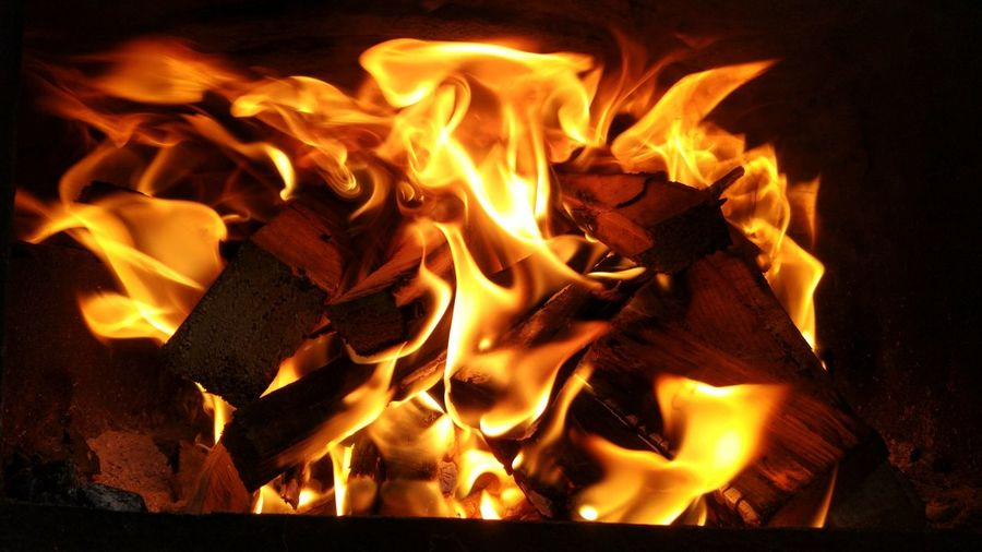 Fire Nature Day Flame Burning Heat - Temperature No People Motion Night Close-up Outdoors